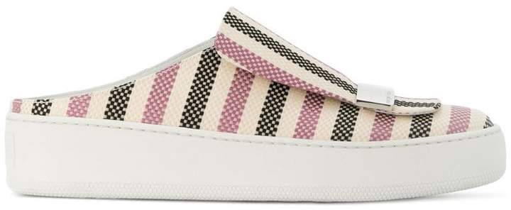 Sergio Rossi sr1 striped backless slip-on sneakers