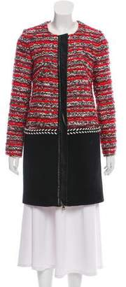 Milly Patterned Zipper Jacket