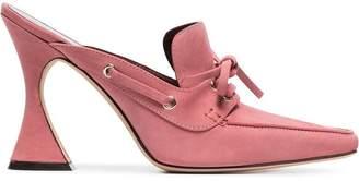 Sies Marjan Pink Remi 100 suede boat mules