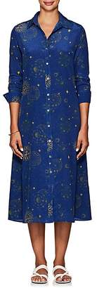 Leone WE ARE Women's Astrology-Print Silk Shirtdress - Dk. Blue