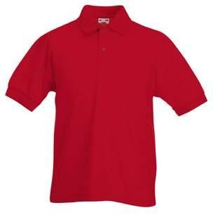 Fruit of the Loom Kids FOTL Short Sleeve 65/35 Pique Polo T Shirt
