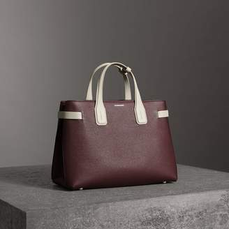 Burberry The Medium Banner in Two-tone Leather