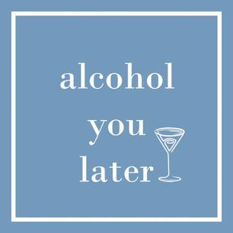 "Paper Products Alcohol You Later"" Paper Cocktail Napkins, Set of 20"