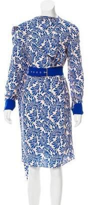Ungaro Silk Printed Knee-Length Dress
