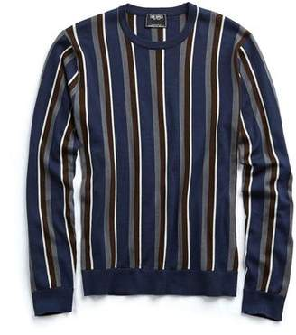 Todd Snyder Italian Silk/Cotton Vertical Stripe Sweater