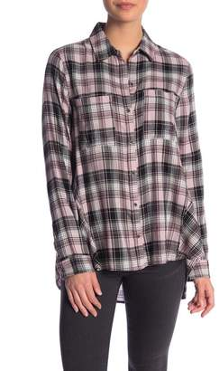 Melrose and Market Swing Plaid Button Down Shirt