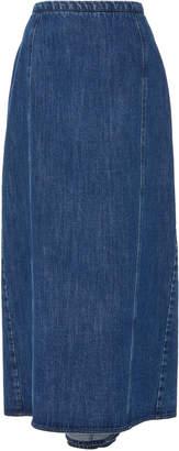 Michael Kors High-Rise Denim Midi Skirt