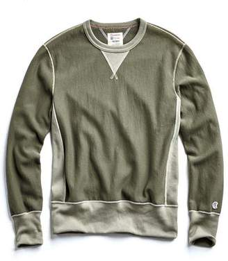 Todd Snyder + Champion Champion Reverse Weave Contrast Sweatshirt in Olive