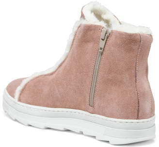 Made In Italy Cozy Lined Suede Sneaker Booties
