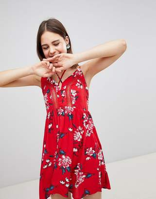 Brave Soul Lula Cami Dress in Rose Print