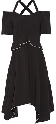 Proenza Schouler - Cold-shoulder Crepe Dress - Black $1,190 thestylecure.com