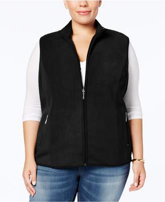 Karen Scott Plus Size Zeroproof Fleece Vest