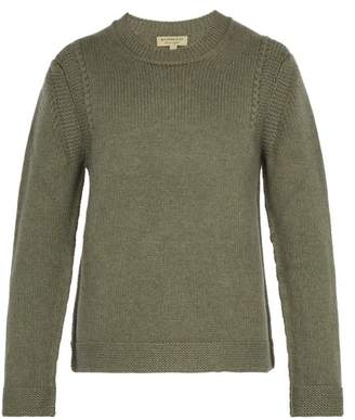 Burberry Knitted Cashmere Sweater - Mens - Green