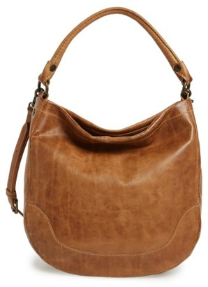 Frye Melissa Leather Hobo - Beige $388 thestylecure.com