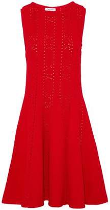 Valentino Flared Pointelle-Knit Dress