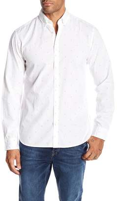 Jack and Jones Porter Long Sleeve Print Slim Fit Woven Shirt