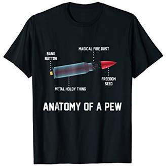 The Anatomy of a Pew Funny Bullet Assembly TShirt