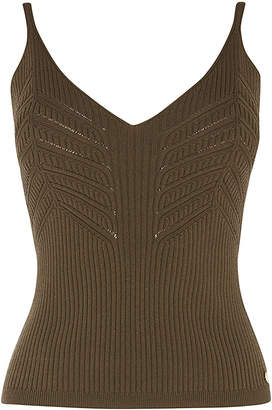 Karen Millen Ribbed Vest Top