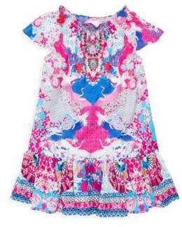 Camilla Little Girl's& Girl's Shirring A-Line Dress