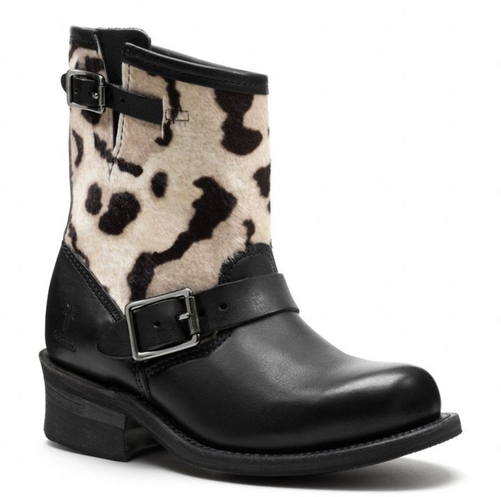 Frye For Coach Ocelot Print Engineer Boot