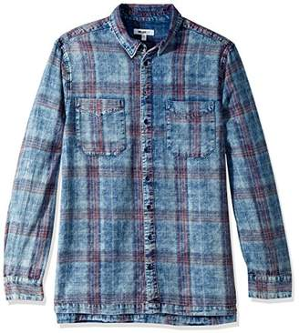 William Rast Men's Bo Long Sleeve Button Down Shirt