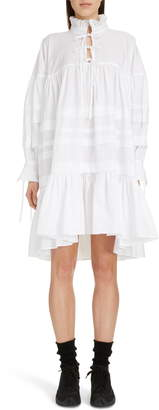 Cecilie Bahnsen Macy Pleated Oversized Shirtdress