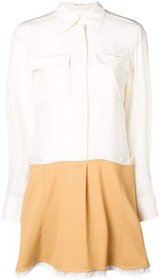 Chloé contrast flared shirt dress