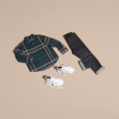 Burberry Check Cotton Button-down Shirt 5