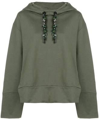OSKLEN embellished drawstring hoodie