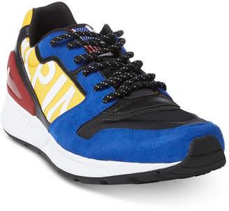 Polo Ralph Lauren Men's Train 100 Tech-Suede Sneakers Men's Shoes