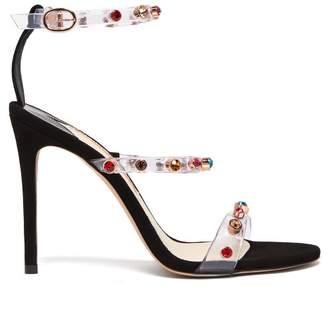 Sophia Webster Rosalind Crystal Embellished Plexi Sandals - Womens - Black Multi