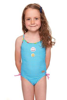 Zoggs Toddler Girls Happy Check Paddle Back