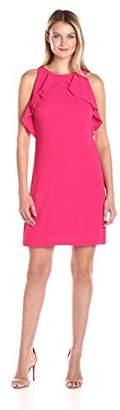 Jessica Simpson Women's Halter Neck Ruffle Dress