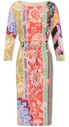 Etro Floral-printed silk dress