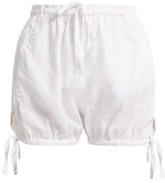 Wilma Innika Choo Butfiet Linen Bloomer Shorts - Womens - White