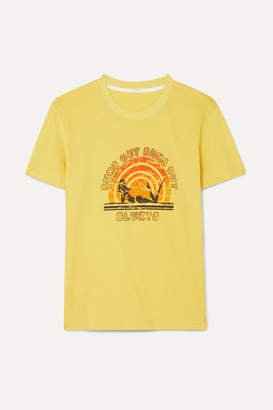 Zimmermann Goldie Printed Cotton-jersey T-shirt - Yellow