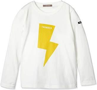 nico hrat (ニコ フラート) - [ニコフラート] サンダーロングTシャツ 280262 ボーイズ オフホワイト 日本 90 (日本サイズ90 相当)
