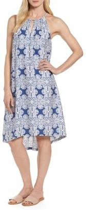 Women's Vineyard Vines Mirrored Leaves Trapeze Halter Dress $198 thestylecure.com