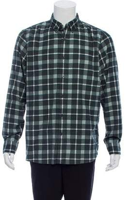 Michael Kors Corduroy Flannel Button-Up Shirt