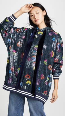 Mira Mikati Printed Sequin Hoodie