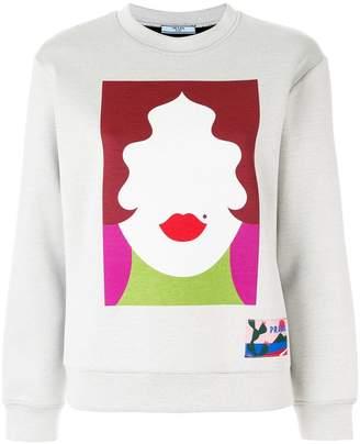 Prada face motif sweatshirt