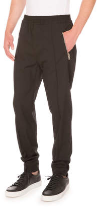 Givenchy Zip-Pocket Jogger Pants, Black