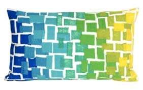 Liora Manné Visions II Ombre Tile Indoor and Outdoor Pillow