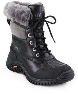 UGG Adirondack II Lace-Up Shearling& Leather Boots