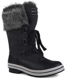 London Fog Avalon II Faux Fur Mid-Calf Waterproof Boots
