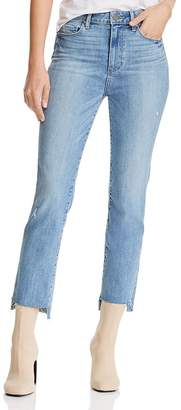 Paige Hoxton High-Rise Straight Jeans in Zyra Destructed - 100% Exclusive