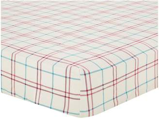 Very Brushed Cotton Check fitted sheet - Red