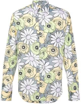 Prada floral buttondown shirt