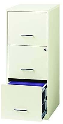 """Office Dimensions 18"""" Deep 3 Drawer Vertical File Cabinet with Lock for Office Storage"""