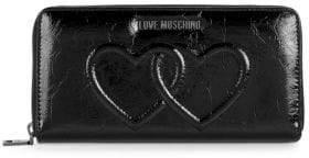 Love Moschino Interlocking Heart Zip Wallet